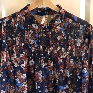 Navy floral tunic or dress